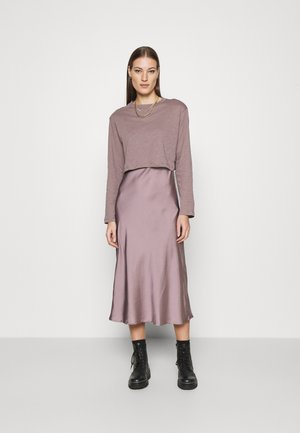 BENNO TEE DRESS SET - T-shirt à manches longues - taupe