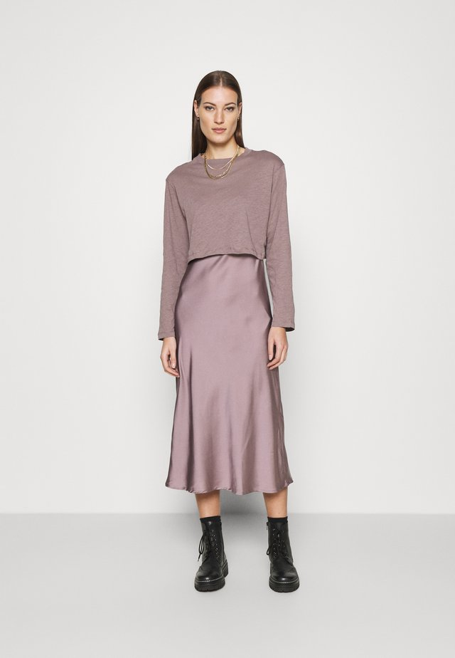 BENNO TEE DRESS SET - Longsleeve - taupe