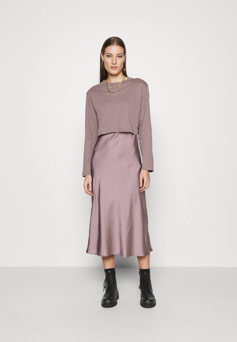 AllSaints - BENNO TEE DRESS SET - Long sleeved top - taupe