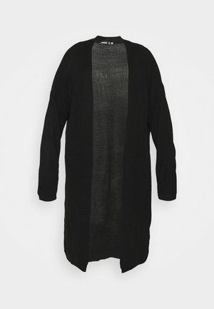 LONGLINE - Cardigan - black