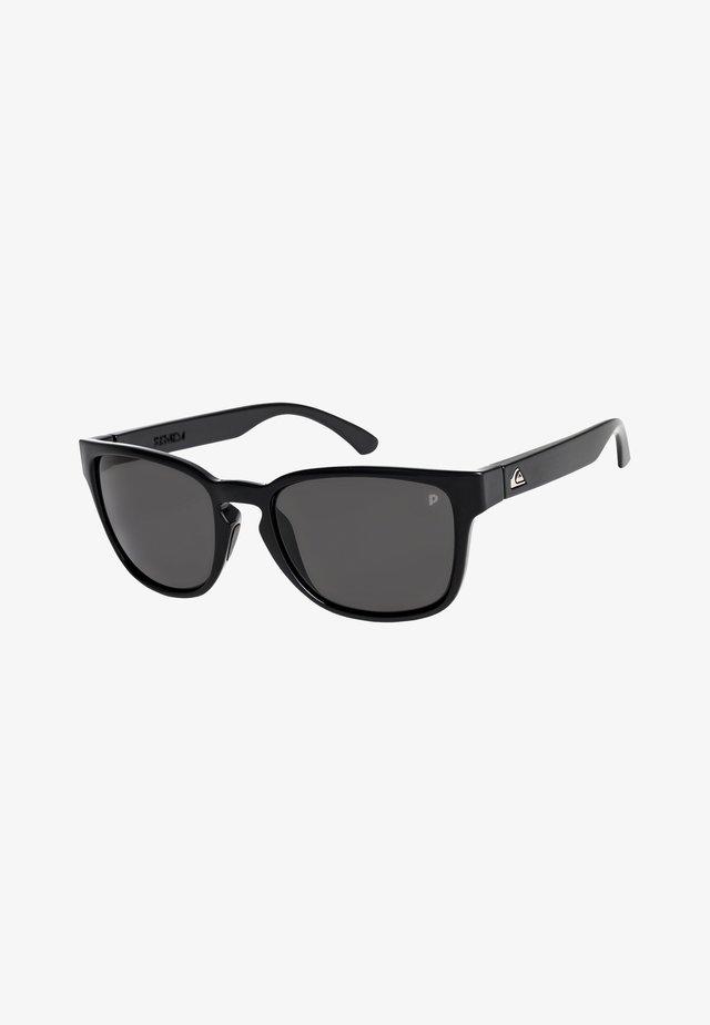 REKIEM  - Zonnebril - shiny black/polarized grey