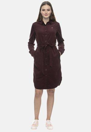 Shirt dress - wine red