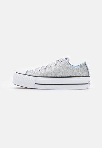 CHUCK TAYLOR ALL STAR PLATFORM GLITTER - Sneakers basse - silver/university blue/white