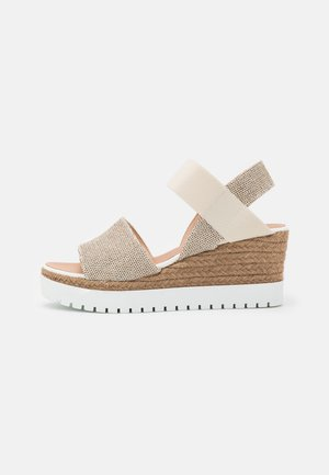 ZARZA - Sandály na platformě - avorio