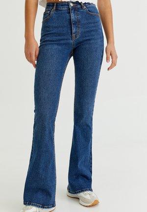 Jeans a zampa - dark-blue denim
