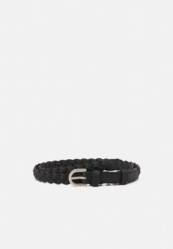 BELT OLIVIA - Braided belt - black