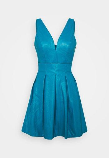 PLEATED SKATER DRESS - Denní šaty - teal blue