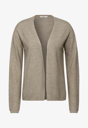 OFFENER MELANGE - Cardigan - beige