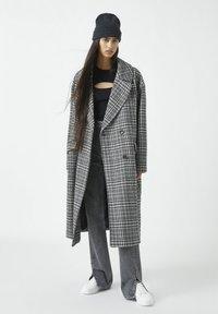 PULL&BEAR - Classic coat - dark grey - 1