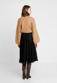 Anna Field - A-line skirt - metallic black - 2
