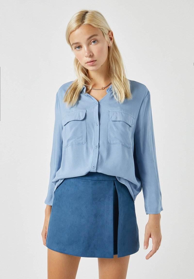 PULL&BEAR - Button-down blouse - blue