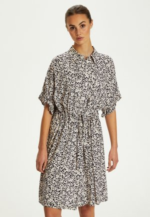 Shirt dress - buttercup print parisian night