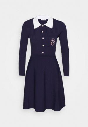 POLO - Strikket kjole - marine