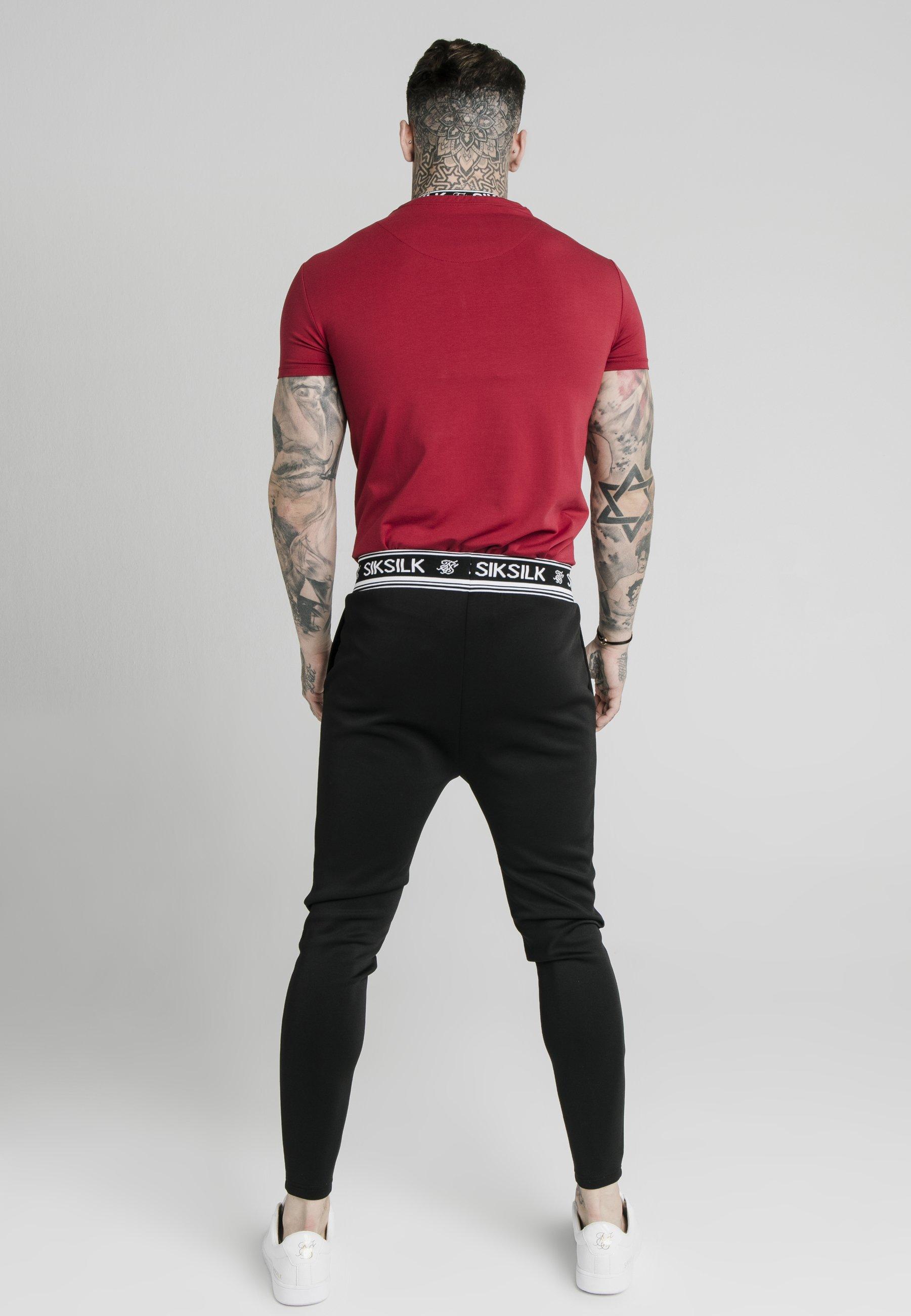 SIKSILK INSET COLLAR GYM TEE - Print T-shirt - red K2BJE