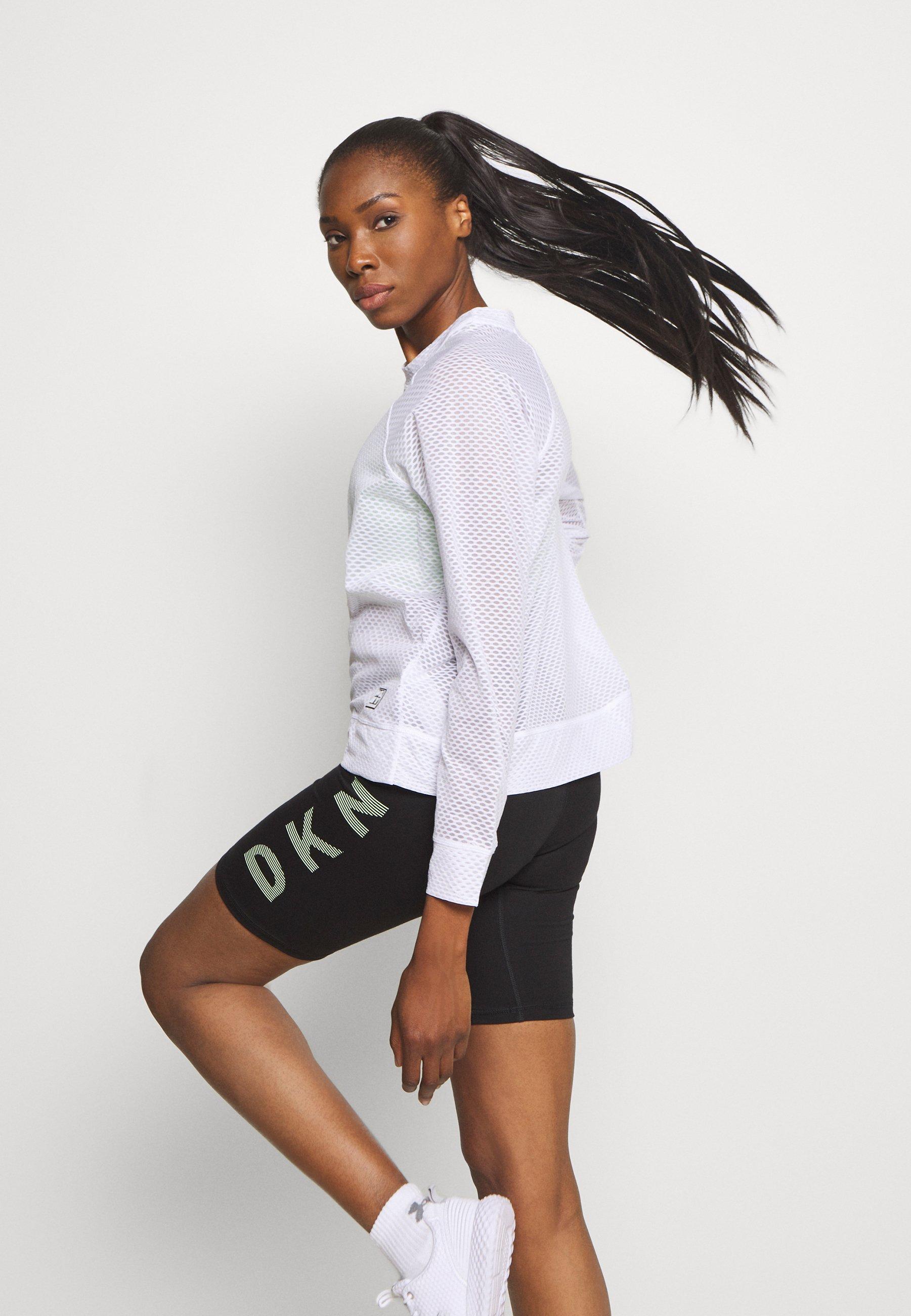 Women HONEYCOMB CREW NECKLONG SLEEVE PULL OVER - Long sleeved top