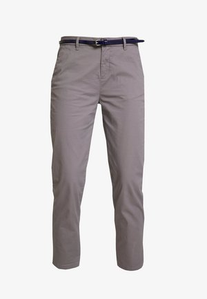 IN STRETCH WITH BELT - Chinos - grey