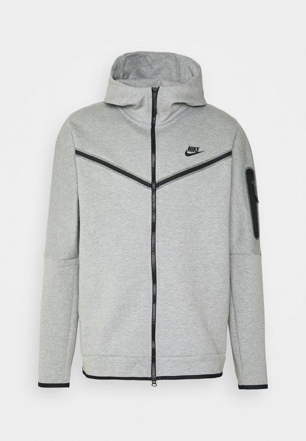 Nike Sportswear Bluza rozpinana - dk grey heather/black/srebrny Odzież Męska NUBN