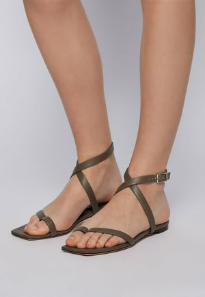 LUCY  - Sandals - dark green