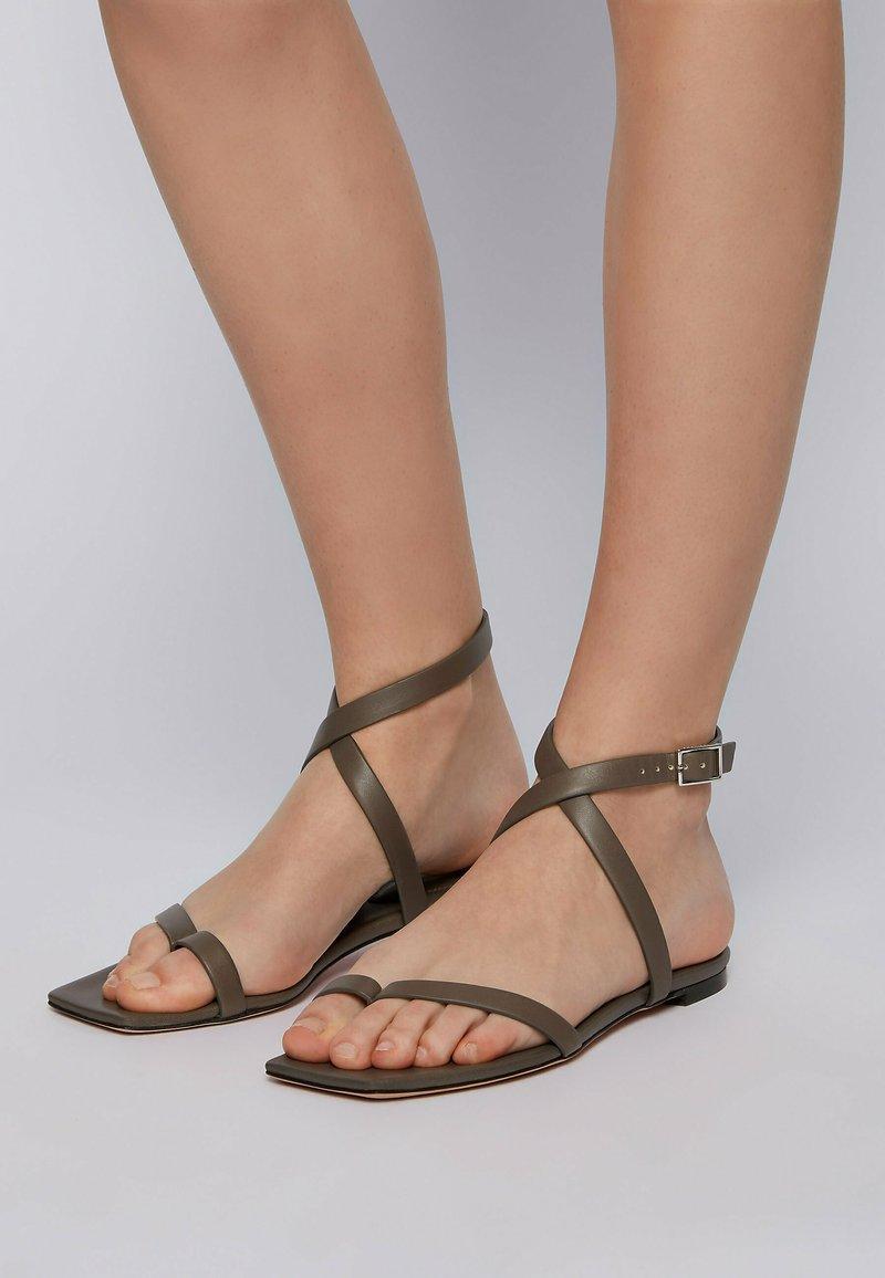 BOSS - LUCY  - Sandals - dark green