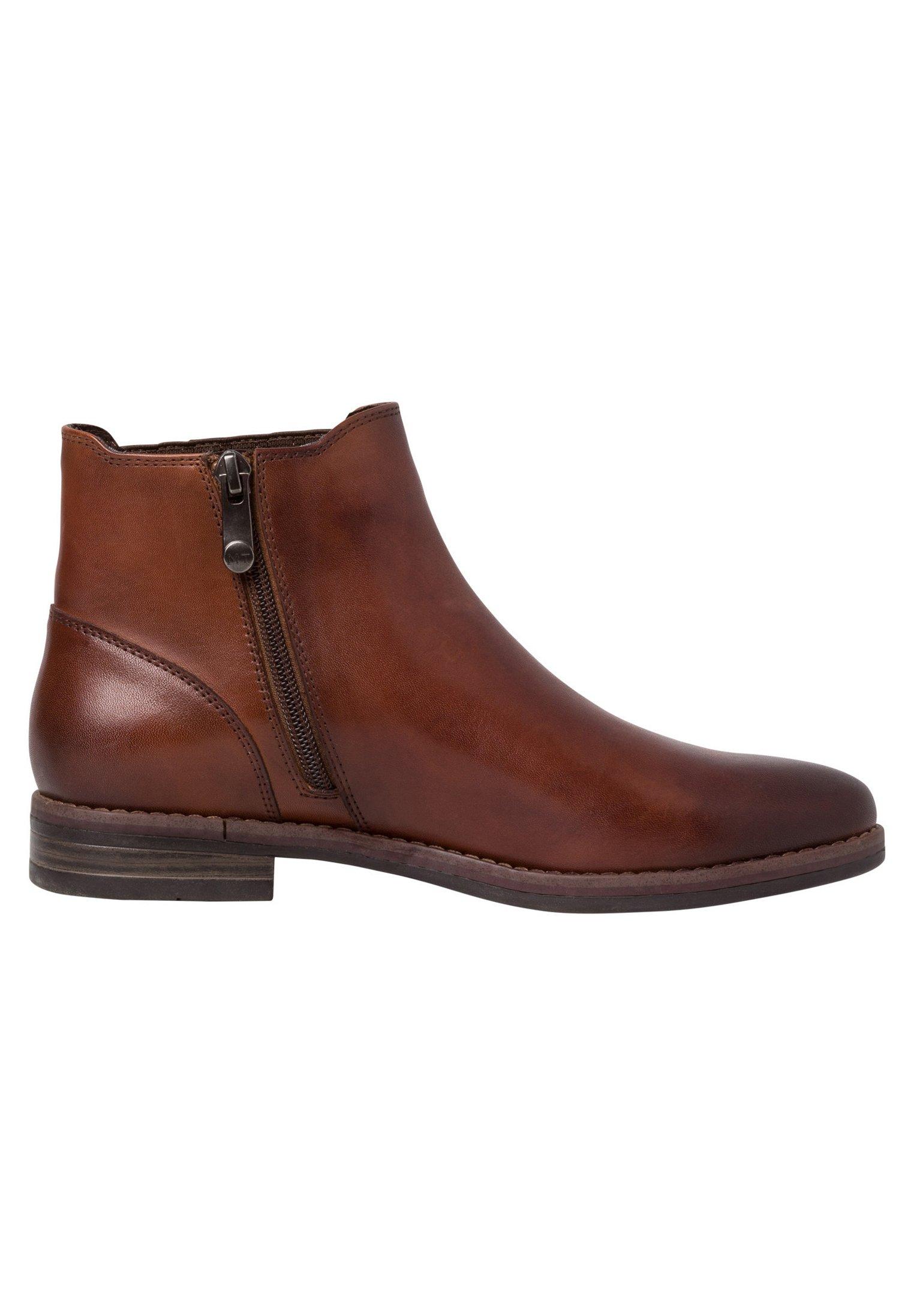 Marco Tozzi CHELSEA BOOT - Nilkkurit - cognac ant.com - Naisten kengät vDOIl