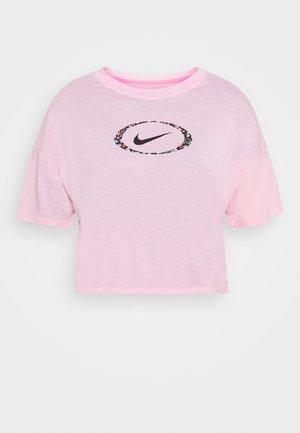 DRY CROP FEMME - T-shirt con stampa - pink/pink glow/black