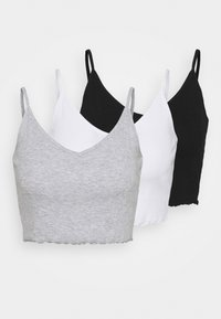 Even&Odd - 3 PACK - Top - black/white/grey - 6