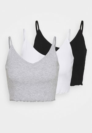 3 PACK - Débardeur - black/white/grey