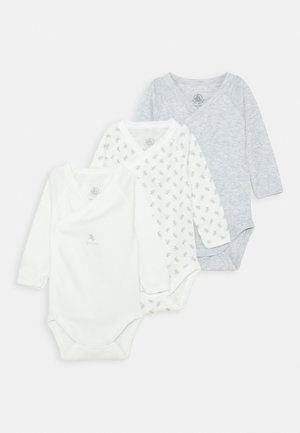 NAISS 3 PACK UNISEX - Body - grey/white