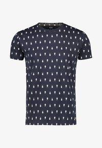 NEW IN TOWN - MIT INSEKTENPRINT - Print T-shirt - night blue - 5