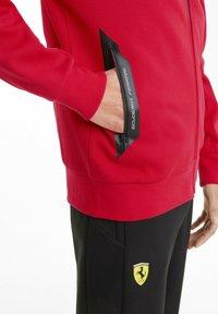 Puma - FERRARI STYLE - Zip-up hoodie - rosso corsa - 3