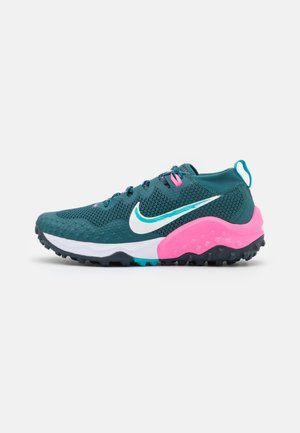 WILDHORSE 7 - Zapatillas de trail running - dark teal green/ghost/armory navy/pink glow/turquoise blue