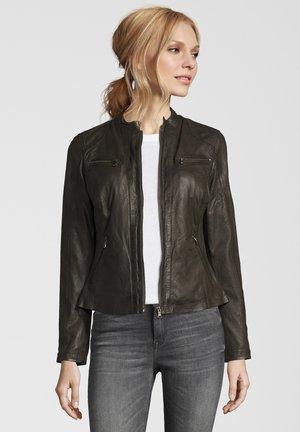 RUBY - Leather jacket - rubin olive