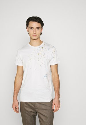 JPRBLALOUDEST TEE CREW NECK - Print T-shirt - blanc de blanc