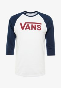 Vans - CLASSIC RAGLAN CUSTOM FIT  - Langarmshirt - white/dress blues/biking red - 3