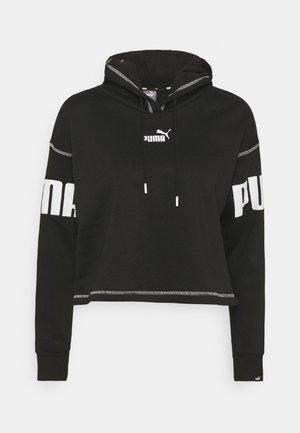 POWER HOODIE - Sweatshirt - black