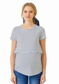 Vertbaudet - Print T-shirt - weiß blau - 0