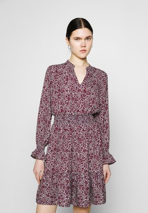 ONLJUNO SHORT DRESS - Denní šaty - blue/dark red