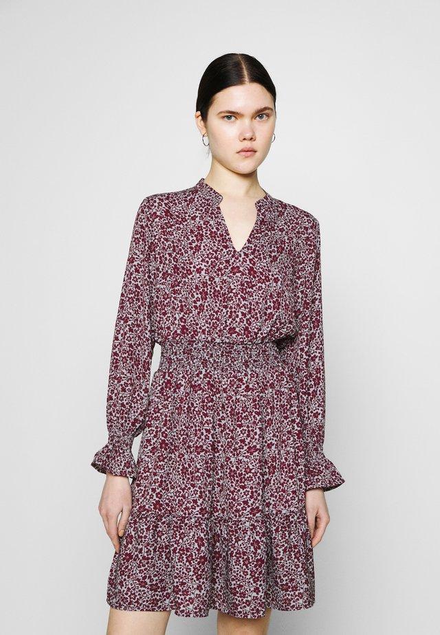 ONLJUNO SHORT DRESS - Day dress - blue/dark red