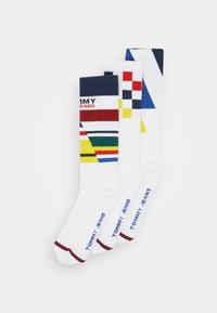 Tommy Jeans - UNISEX GIFTBOX 3 PACK - Socks - white - 0