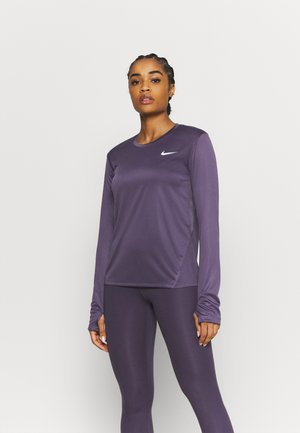 MILER - Sports shirt - dark raisin/silver