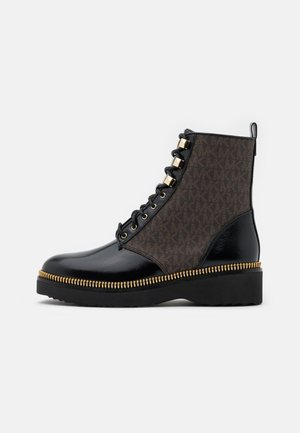 HASKELL BOOTIE - Lace-up ankle boots - black/brown
