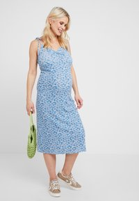 Topshop Maternity - DITSY TWIST DRESS - Jersey dress - blue - 2