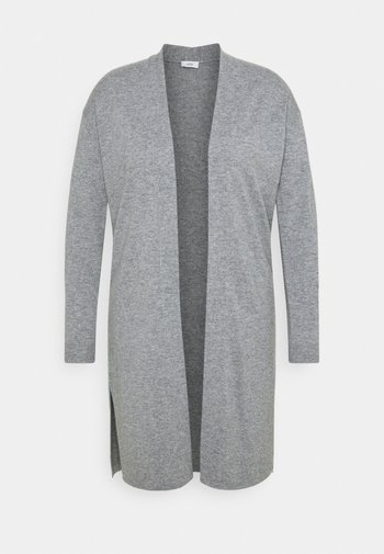 WOMEN LONG CARDIGAN - Cardigan - grey heather melange