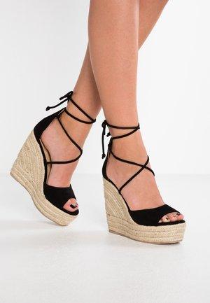 MAREA - Korolliset sandaalit - black