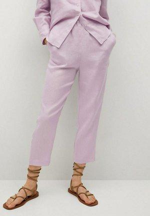 CINTURA ELÁSTICA - Pantalon classique - morado claro pastel