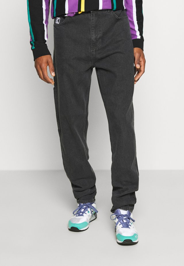 RINSE PANTS - Relaxed fit jeans - grey/washed charcoal
