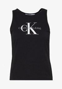 Calvin Klein Jeans - MONOGRAM STRETCH SPORTY TANK - Top - black - 4