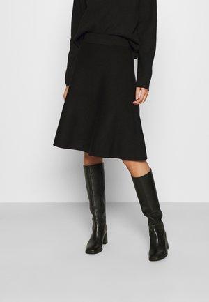 SLFCALI SKIRT - A-snit nederdel/ A-formede nederdele - black