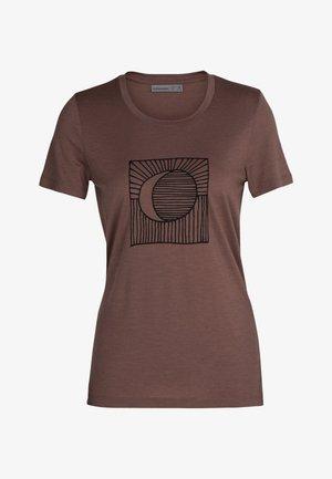 Print T-shirt - mink