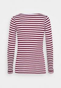 Esprit - STRIPE LONGSLEEVE - Maglietta a manica lunga - bordeaux red - 1